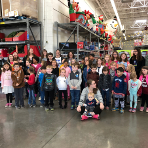 IMAGE: Students from Roadrunner Elementary at Elks Holiday shopping spree.