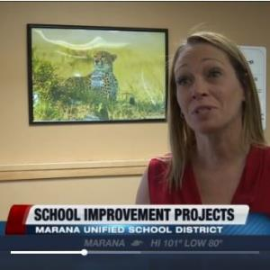 IMAGE: Principal of MCAT, Denise Coronado on KGUN9 News.
