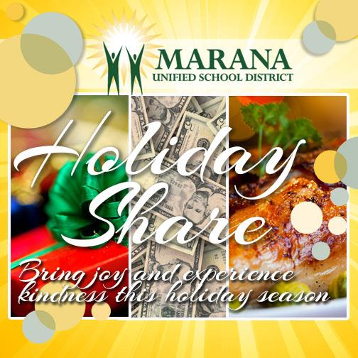IMAGE: Holiday Share with gift, food & financial donations.