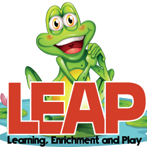 IMAGE: LEAP Frog Mascot on lily pad.