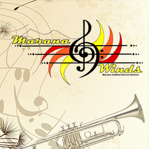 IMAGE: Marana Winds Logo with Musical Notes.