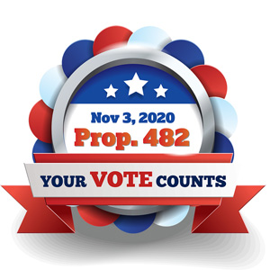 IMAGE: Prop. 482 Your Vote Counts Nov. 3.