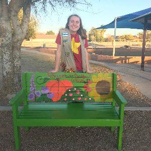 Kaya Glasner donating Buddy Bench